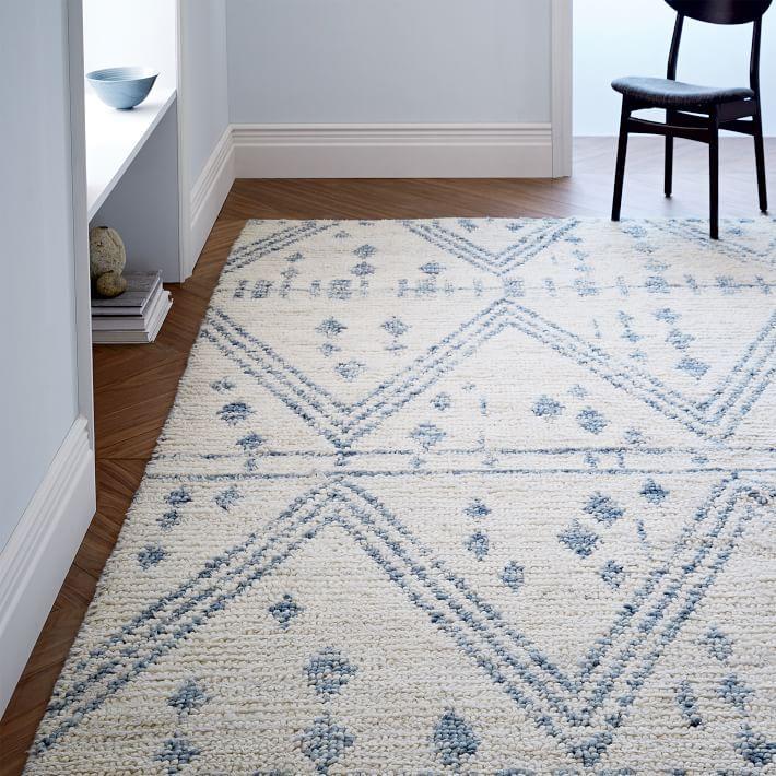 white wool shag rug. Modren Rug Blue And White Wool Shag Rug Inside R