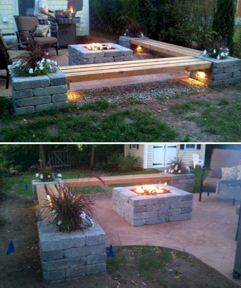28+ Brilliant And Beautiful Cinder Block Ideas For Your ... on Diy Cinder Block Fireplace id=96906