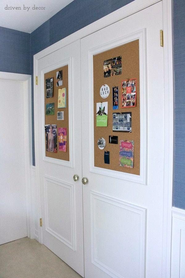 Cork Board Closet Doors Boring Flat Doors No More & Cork Board Closet Doors: Boring Flat Doors No More | Diy cork ... pezcame.com