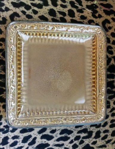 Roscher Tara Square 9  Salad Plates Carmel Brown Set of 2 | eBay & Roscher Tara Square 9