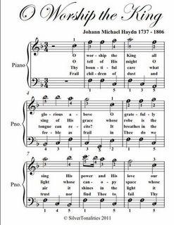O Worship The King Easy Piano Sheet Music Pdf Piano Sheet Music