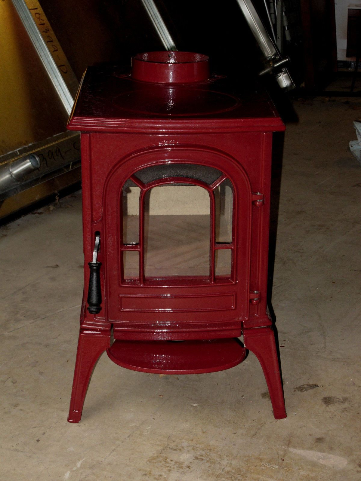 vermont casting wood stove aspen 1920 model burgundy color new