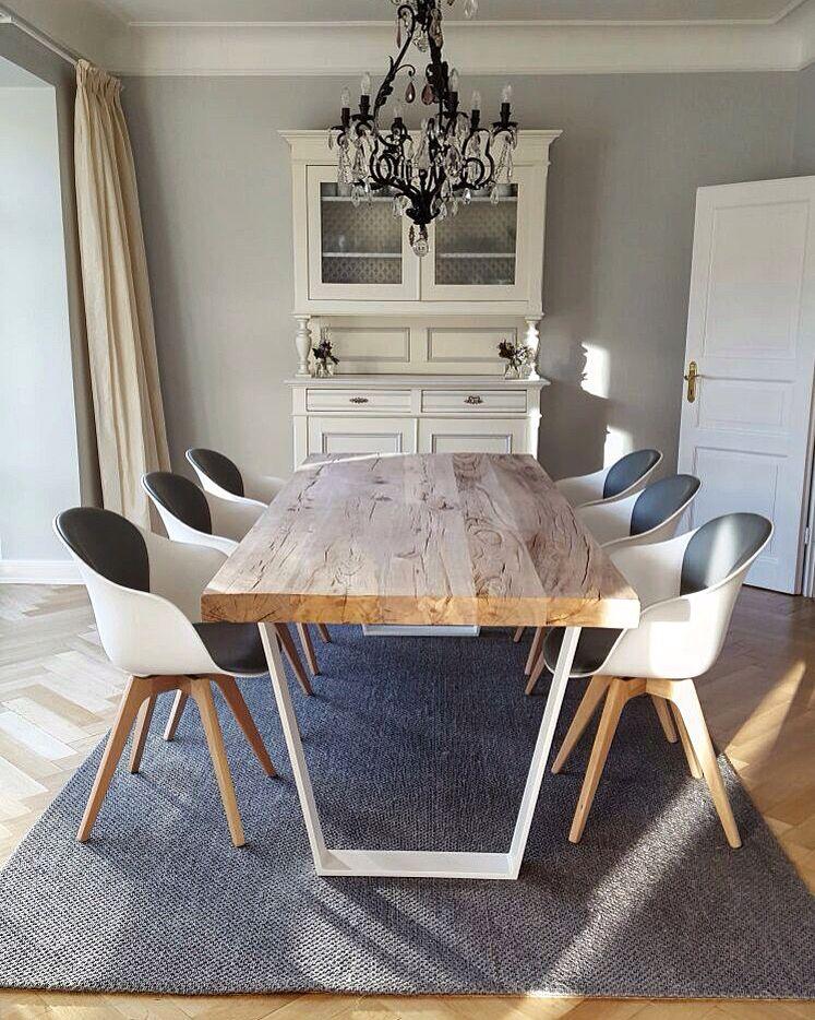 Massivholztisch Esstisch Tisch Holztisch Eichentisch rustikal - esszimmer weis landhaus
