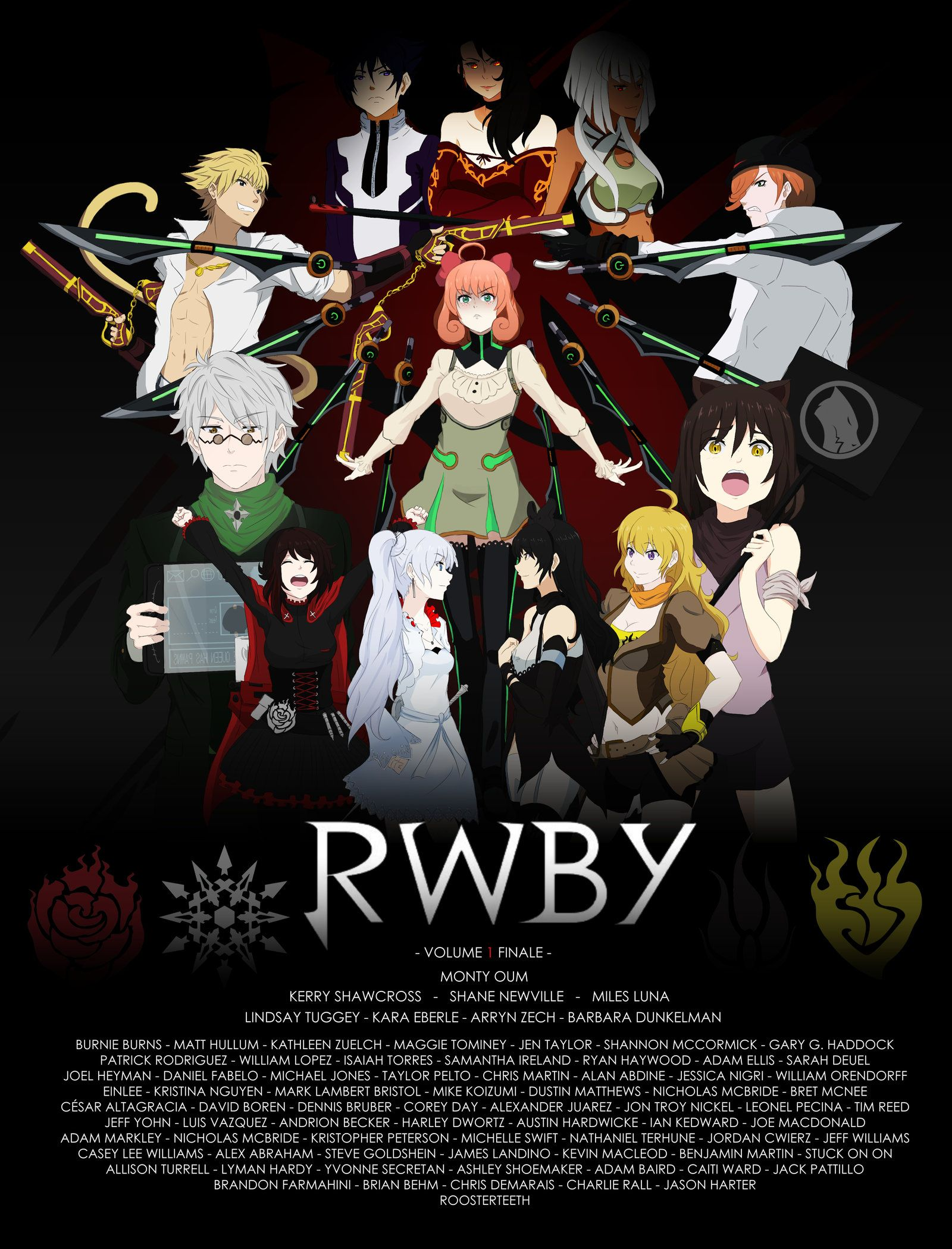RWBY Volume 1 Finale (PRINT) by on