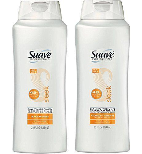 Suave Professionals Sleek Shampoo Conditioner 28 Oz Set Suave Shampoo And Conditioner Will Leave Your Hair Clean And S Suave Shampoo Shampoo Conditioner
