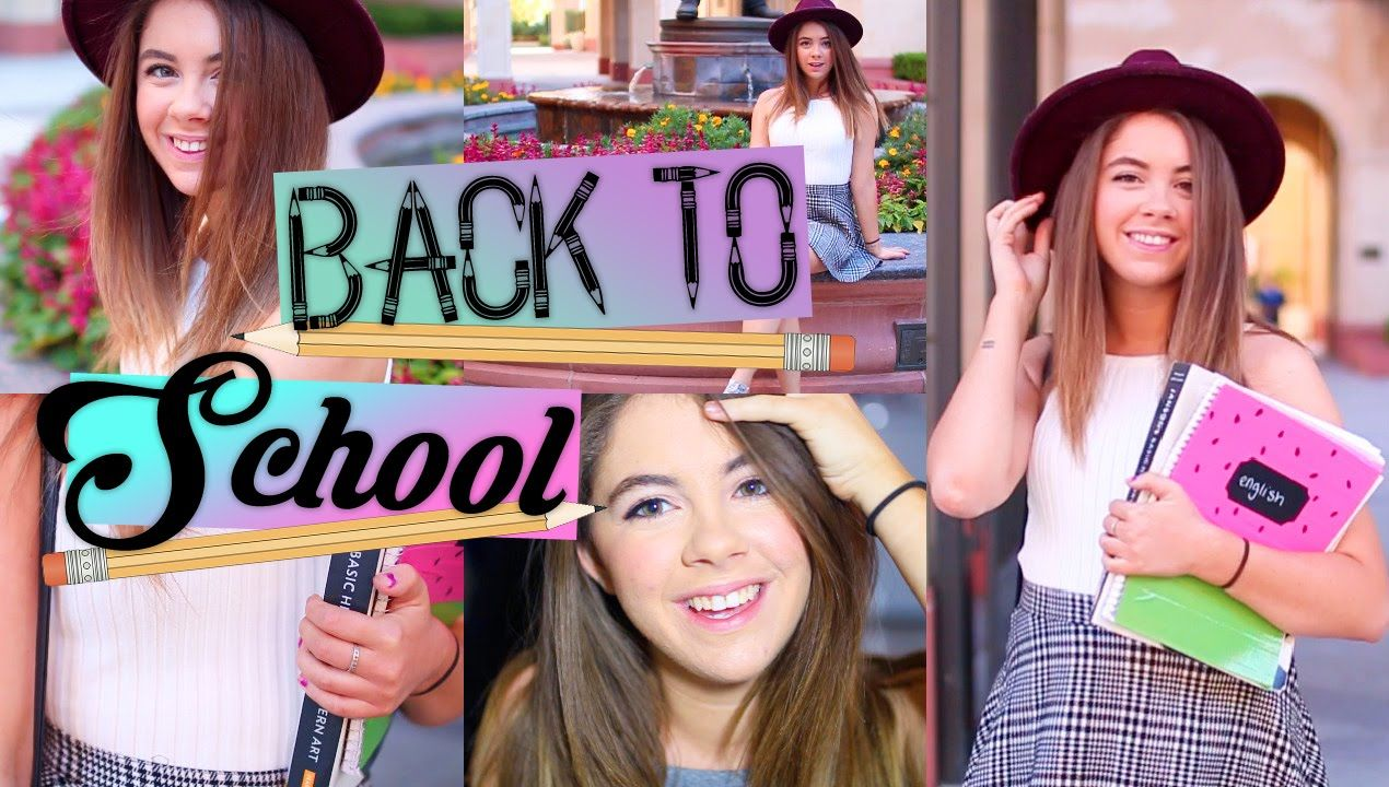 Back to School Routine! Hair, Makeup, & Outfit Idea