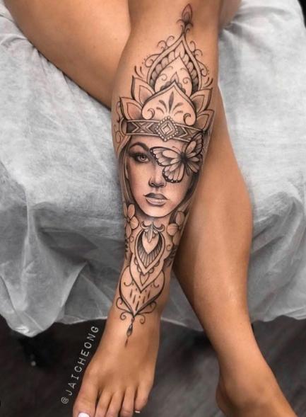 Frauen oberschenkel tattoo 25 Badass
