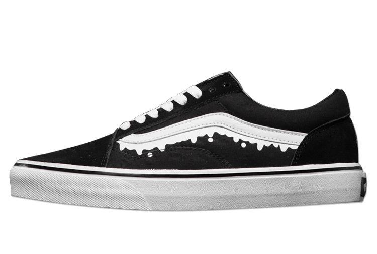 Vans Magical Mosh Misfits Black Old Skool Skate Shoes #Vans