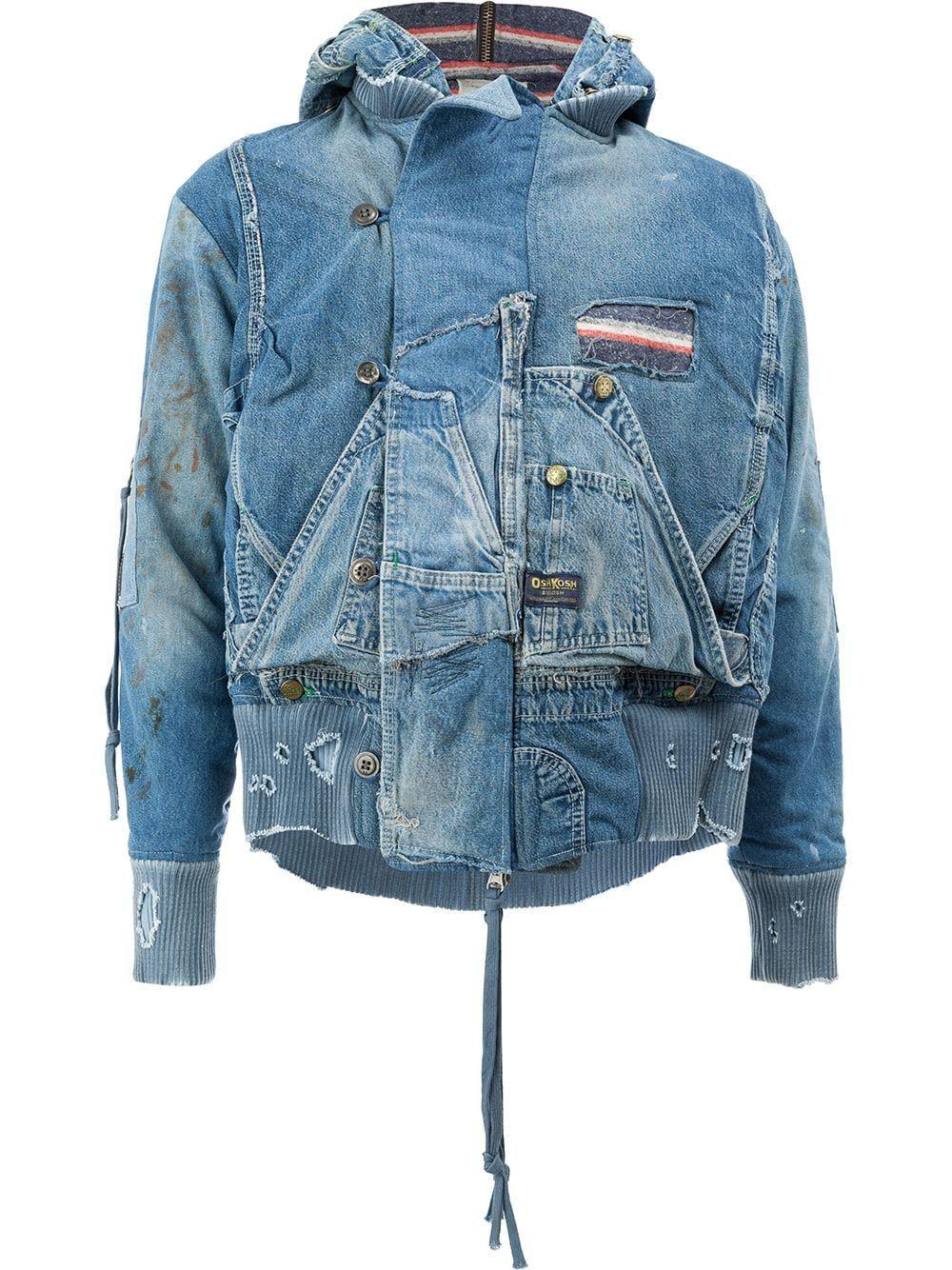 Greg Lauren Snorkel flight jacket Blue in 2020 Denim