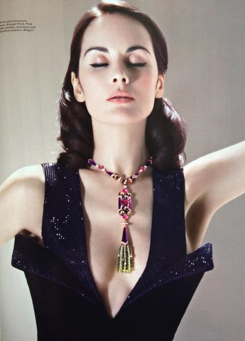 Michelle Dockery in Harper's Bazaar Singapore.