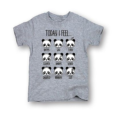 Today I Feel Panda Faces Happy Loved Funny Style Fashion - Toddler T-Shirt | eBay