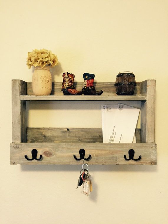 READY TO SHIP ****Entryway organizer, mail and key holder ...