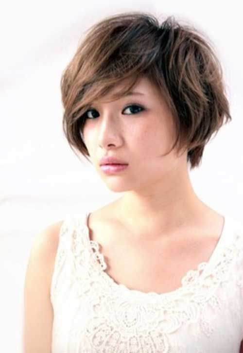 Short Hairstyles for Asian Layered Bob Hair Style de