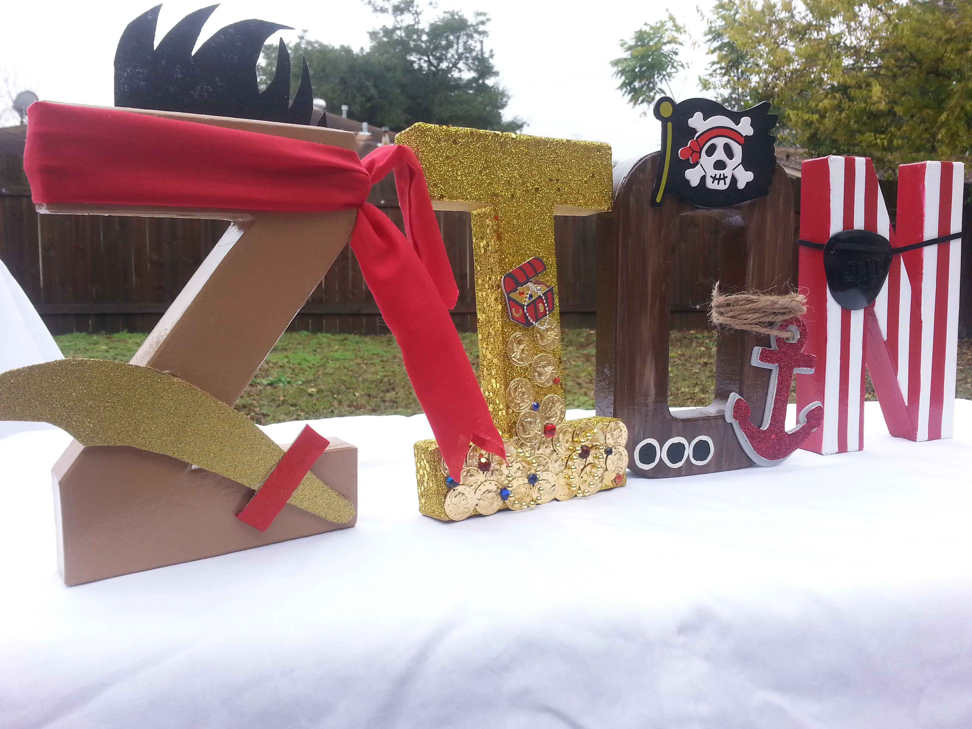 Jake The Neverland Pirates Inspired Customized Letters For A