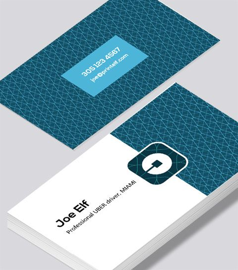 Modern Contemporary Business Card Design Uber Business Card Personal Business Cards Business Card Design Uber Business
