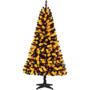 Holiday Time Pre Lit 6 Artificial Christmas Tree Yellow Black Clear Lights Christmas Tree Yellow Christmas Tree Christmas Tree Themes