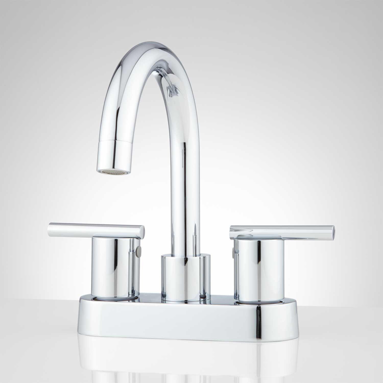 gooseneck faucets with cross l widespread chrome handles spout metal melanie bathroom faucet