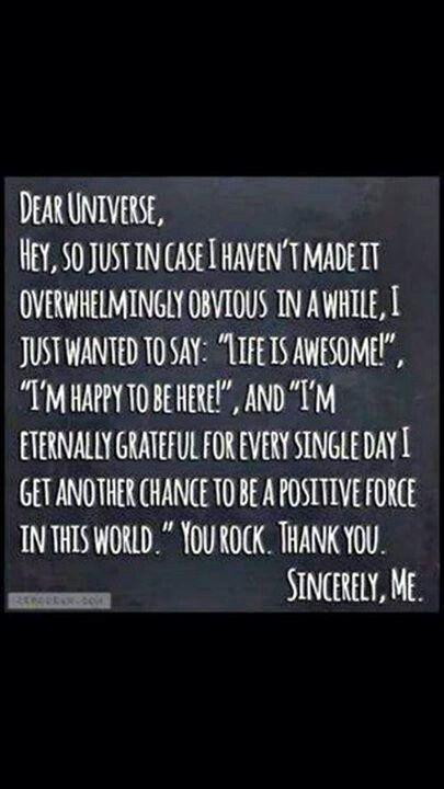 Thank you universe! :)
