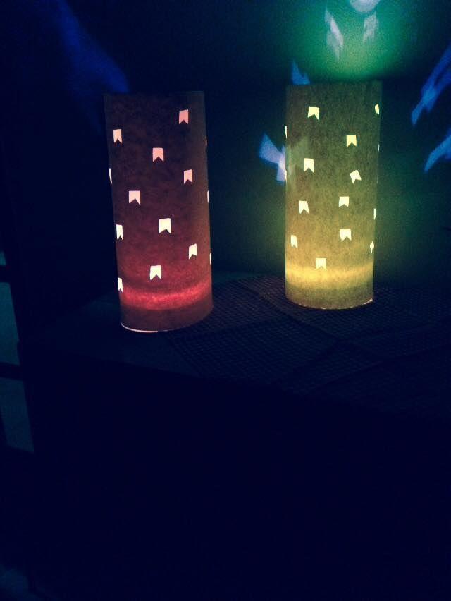 Luminárias feitas por mim para nosso Arraiá de Santo Antonio