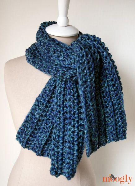 Gran costilla Bufanda :: modelo #crochet libre, bastante fácil para ...