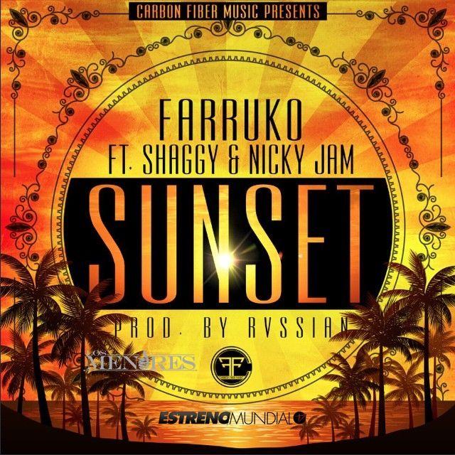 Farruko, Nicky Jam, Shaggy – Sunset (single cover art)