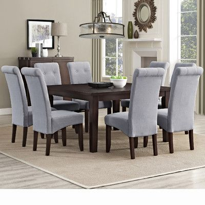 Alcott Hill Alviso 9 Piece Dining Set Dining Room Sets Square Dining Tables Dining Furniture