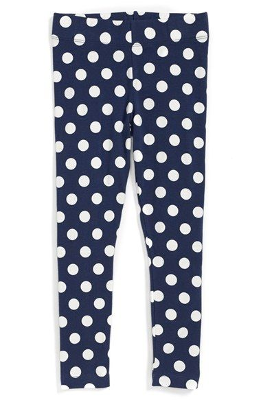 Mini Boden Polka Dot Leggings (Toddler Girls, Little Girls & Big Girls) available at #Nordstrom