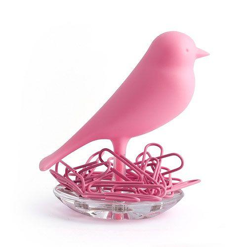 Oiseau Porte Trombonnes Rose available on www.autreshop.com !