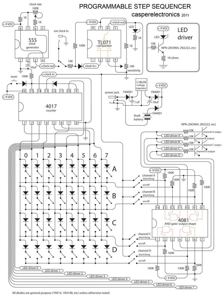 analog seq | Electronic circuit | Pinterest | Electronics projects ...