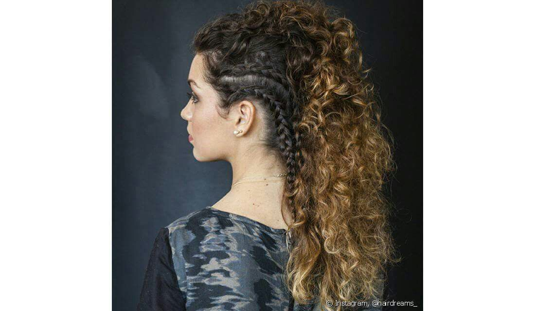Curly moican - moicano cacheado - inspiração ❤🌹