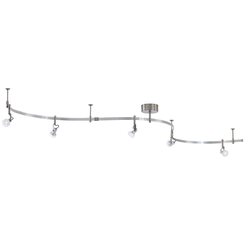 George Kovacs Silver Led Accent Light Kit P4305 084 Bellacor Track Lighting Fixtures Track Lighting Kits Led Track Lighting