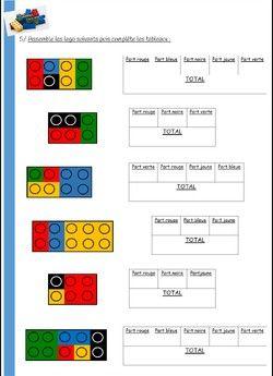 FRACTIONS ET LEGOS | Maths cm2, Maths cm1 et Jeux de fraction