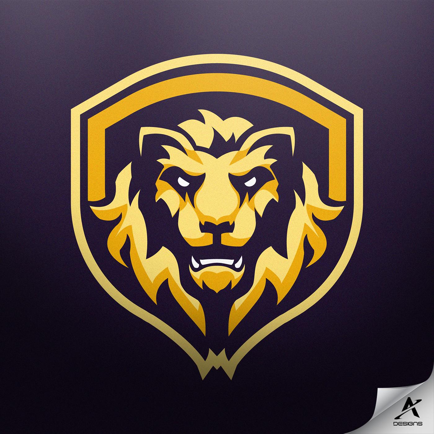 Lion Mascot Logo Design On Behance Arte Leon Arte Grafico Escuela De Arte