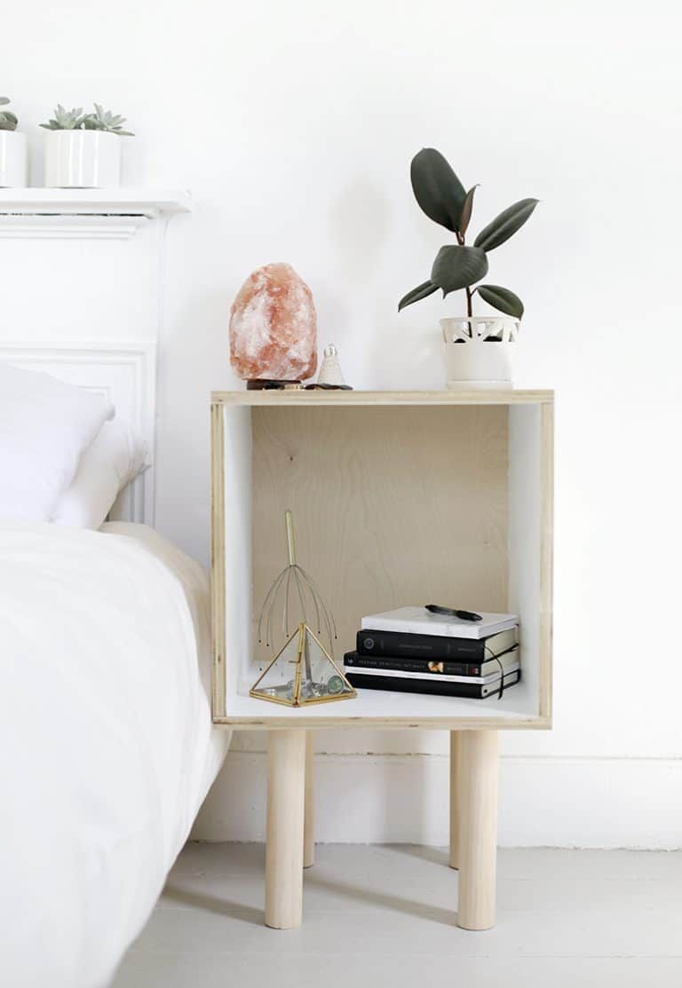 20 Diy Budget Bedside Table Ideas The Kindest Way Cheap