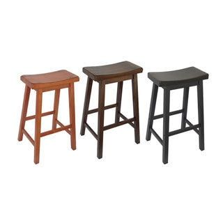 Salvador Saddle Back 24 Inch Counter Height Backless Stool Set Of 2 By Inspire Q Bold Bar Stools Stool Saddle Seat Bar Stool