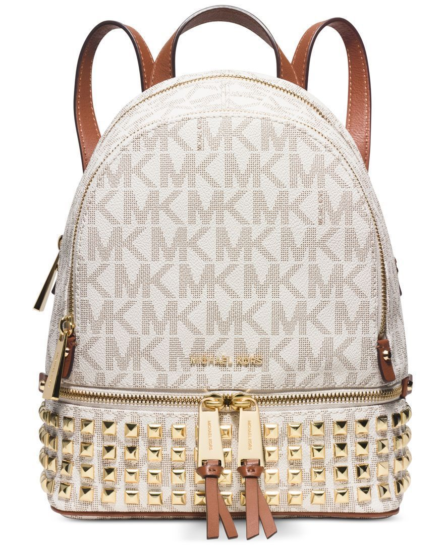 09940062c634 Michael Michael Kors Rhea Zip Small Studded Backpack  BrianAtwood ...