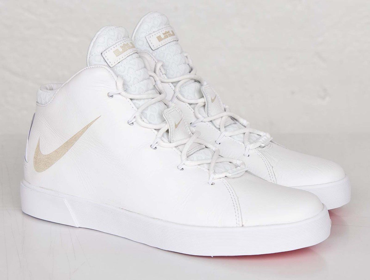 "new concept c9f12 191d0 Nike LeBron 12 NSW Lifestyle ""White  Metallic Gold"" (Graduation)"