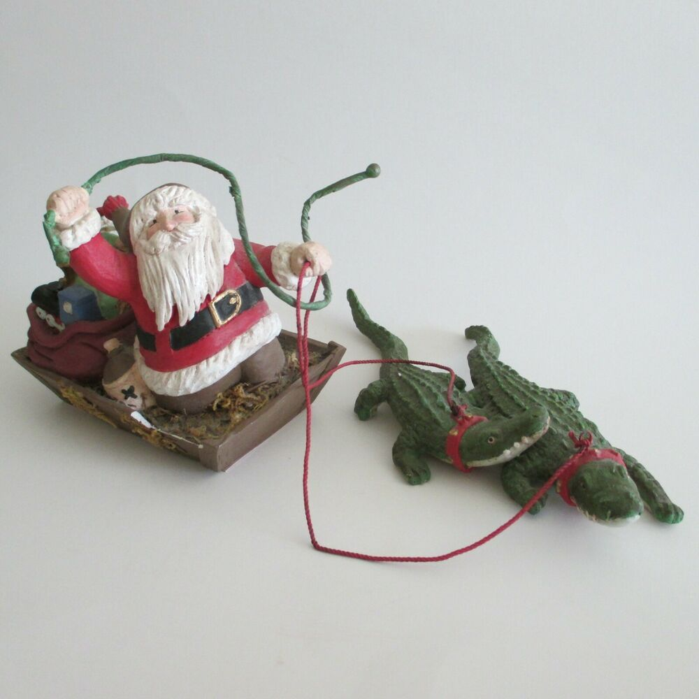 Alligator Christmas Coastal Nautical Tree Ornament Have A Cocktail