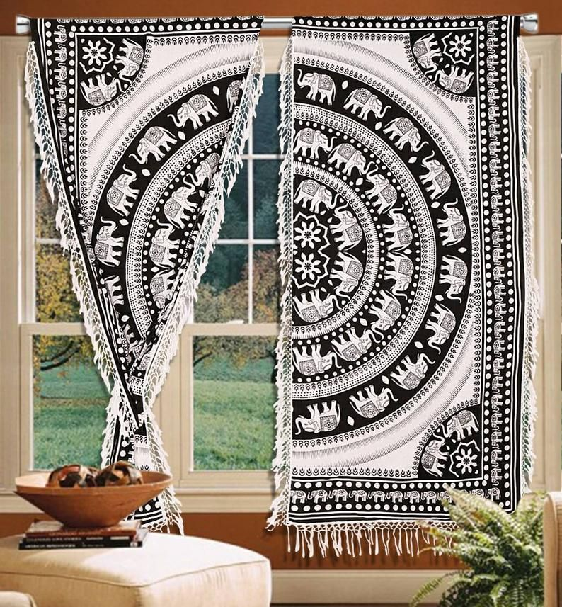 Curtains Window Treatments Indian, How To Decorate With Curtains Living Room