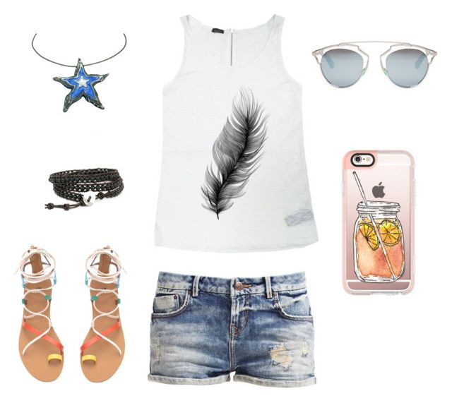 """""""Summer 2016 ~ Tank Top & Shorts #3"""" by kausalyah ❤ liked on Polyvore featuring Casetify and Christian Dior"""
