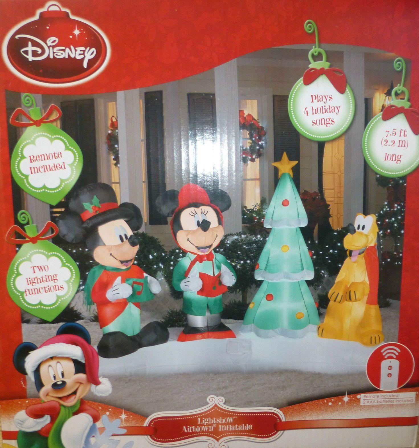 christmas inflatable mickey mouse light show display