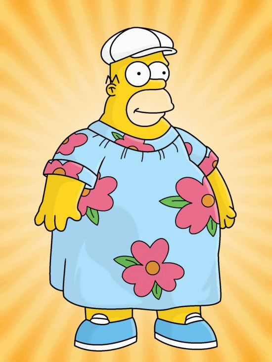 Homer Simpson Moo Moo : homer, simpson, King-Size, Homer, Simpsons, Tattoo,, Simpsons,