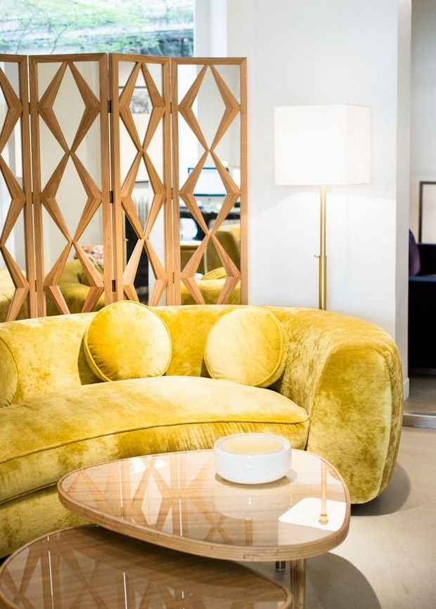 Interior Design By India Mahdavi | Beautiful #loungesofa For A Unique Living  Room | Modern