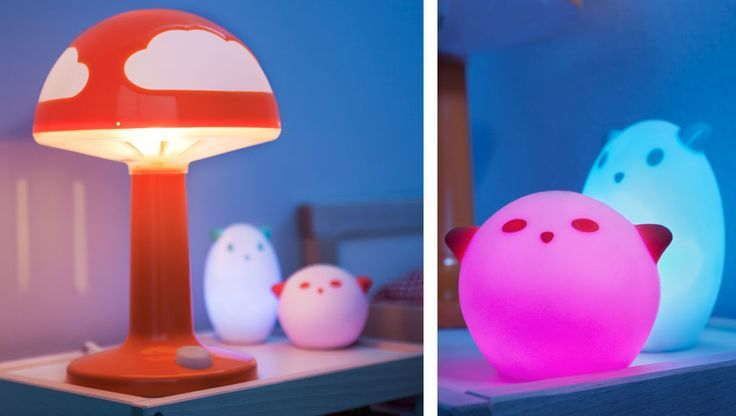 Captivating Mushroom Plant Night Light (ikea)