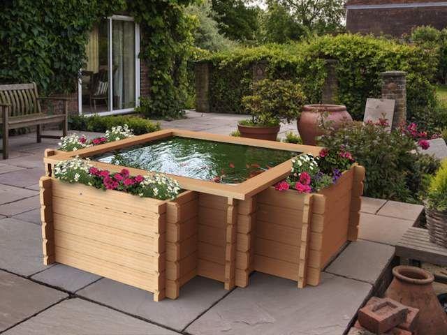 U0027Harlechu0027 Timber Raised Pond   1750 Litres (390 Gallons)