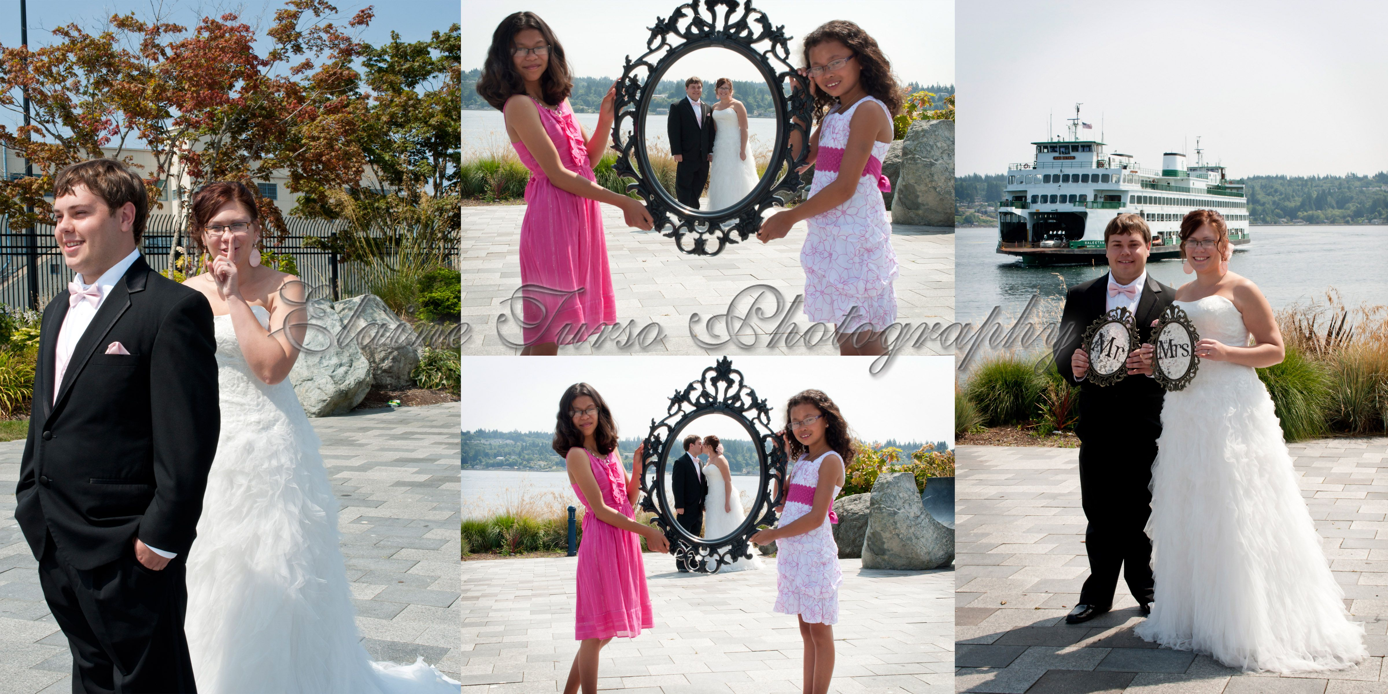 First Look Wedding Collage