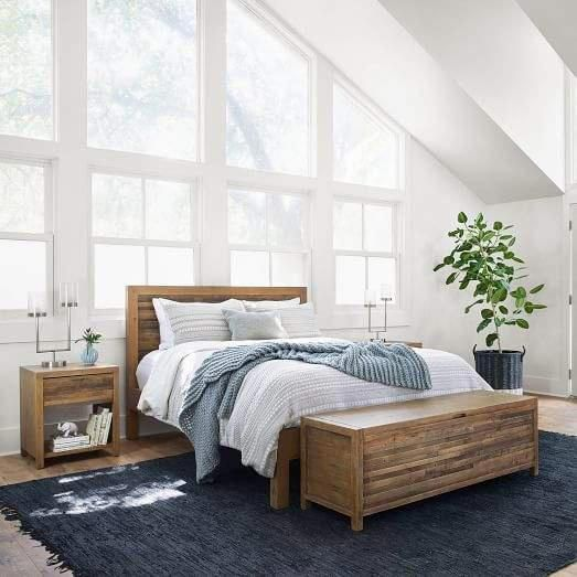 West Elm Bay Reclaimed Pine Bed Rustic Natural Beautifulbedding