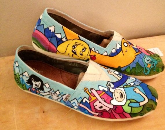 Adventure time inspired Tom shoes