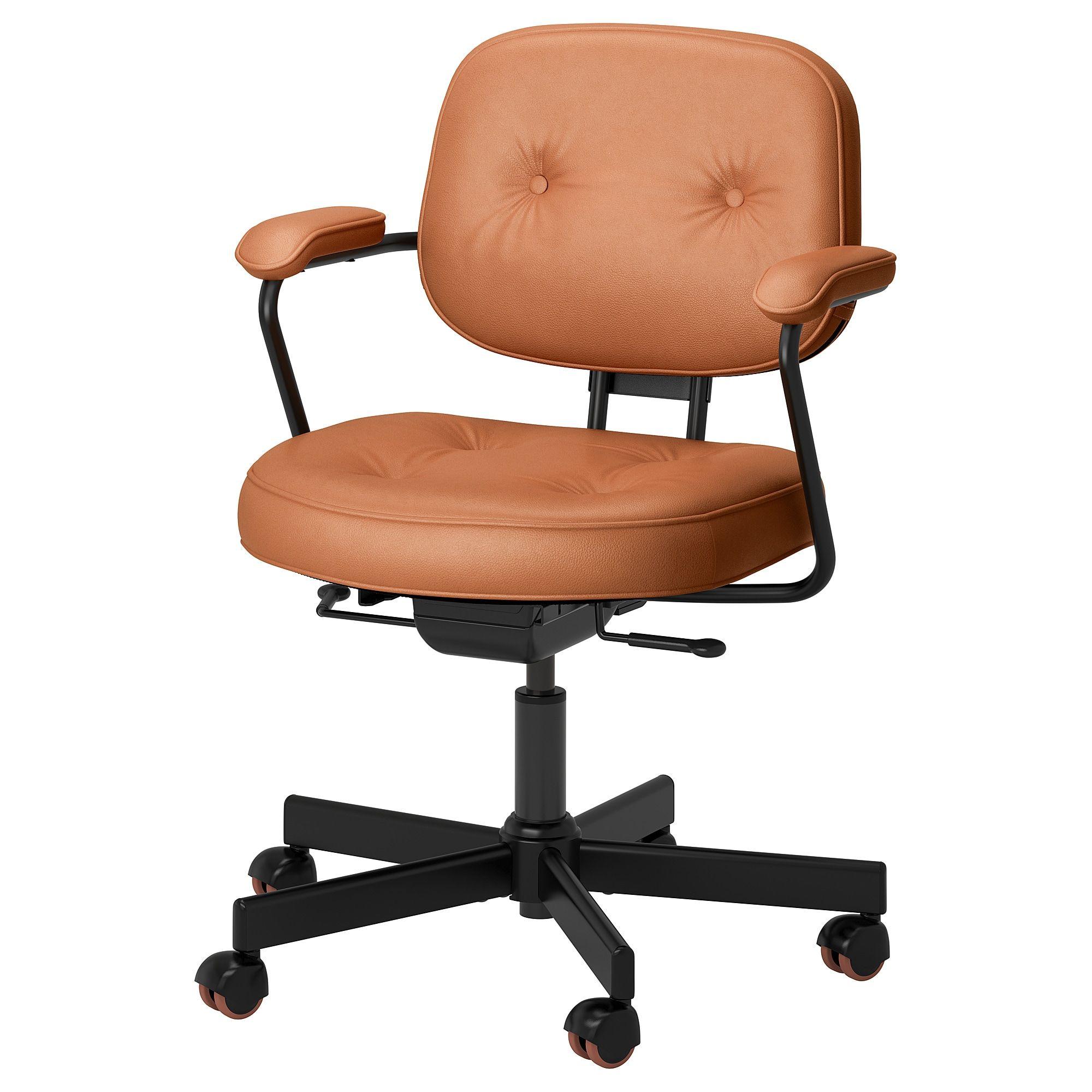 Alefjall Office Chair Grann Golden Brown Ikea Comfy Office Chair Office Chair Office Chair Cushion