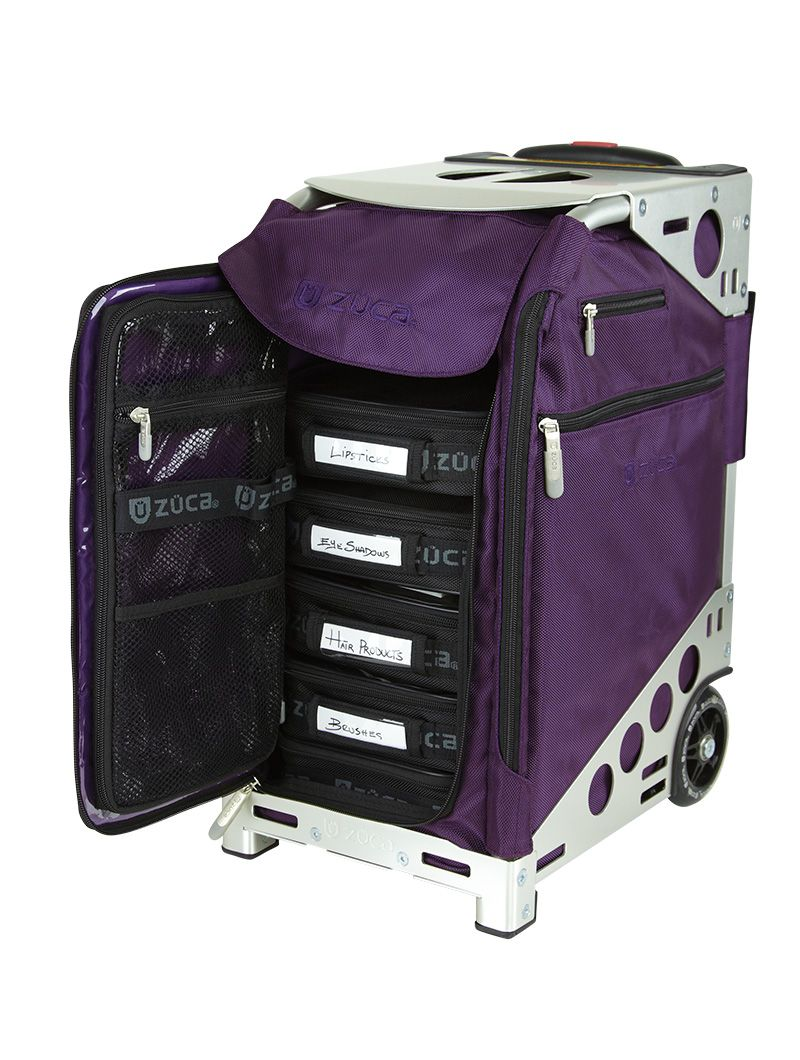 Pro Artist Royal Purple/Silver Purple bags, Zuca, Makeup